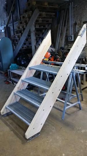 escalier industriel bazane